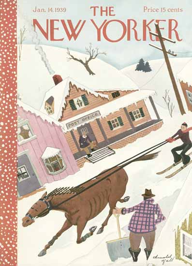 Arnold Hall The New Yorker 1939_01_14 Copyright | The New Yorker Graphic Art Covers 1925-1945