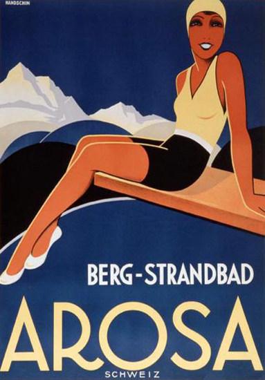 Arosa Berg Strandbad Schweiz Switzerland 1933 | Sex Appeal Vintage Ads and Covers 1891-1970