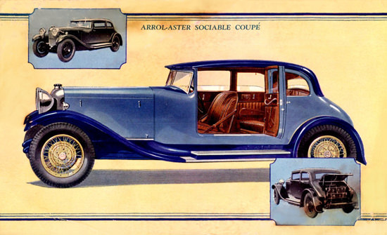 Arrol Aster Sociable Coupe 1929 | Vintage Cars 1891-1970