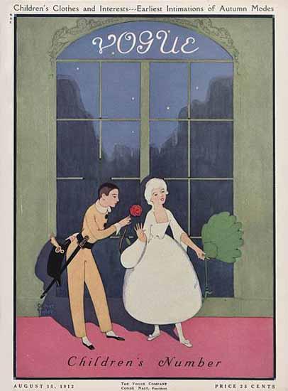 Arthur Finley Vogue Cover 1912-08-15 Copyright | Vogue Magazine Graphic Art Covers 1902-1958