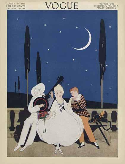 Arthur Finley Vogue Cover 1913-08-15 Copyright | Vogue Magazine Graphic Art Covers 1902-1958