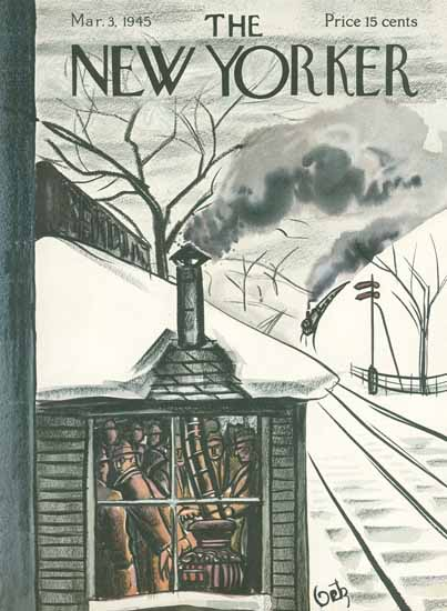 Arthur Getz The New Yorker 1945_03_03 Copyright | The New Yorker Graphic Art Covers 1925-1945