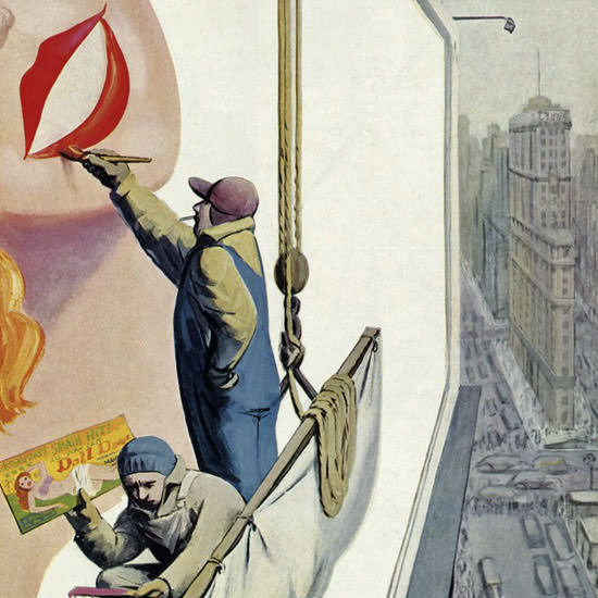 Arthur Getz The New Yorker 1952_03_29 Copyright crop | Best of Vintage Cover Art 1900-1970