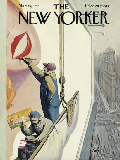 Arthur Getz The New Yorker 1952_03_29 Copyright | The New Yorker Graphic Art Covers 1946-1970