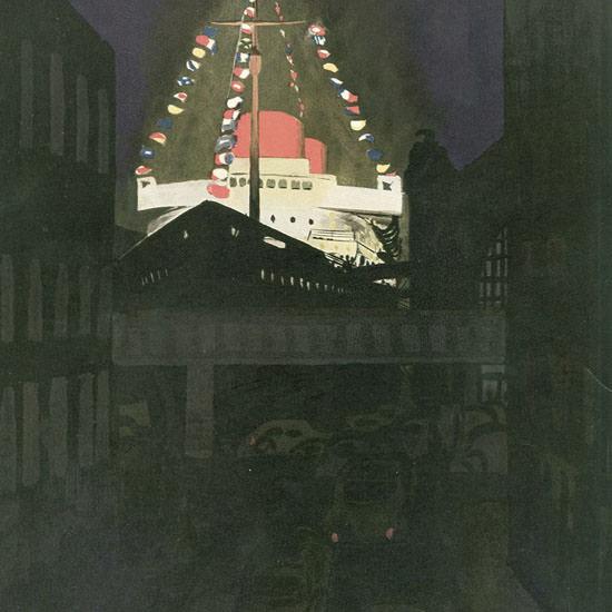Arthur Getz The New Yorker 1952_06_28 Copyright crop | Best of Vintage Cover Art 1900-1970