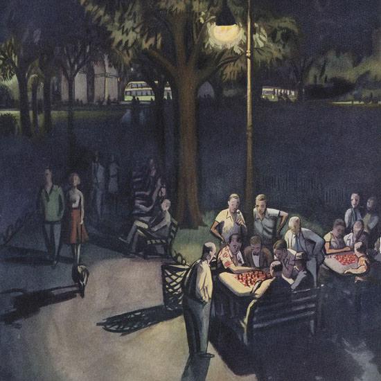 Arthur Getz The New Yorker 1953_07_18 Copyright crop | Best of Vintage Cover Art 1900-1970
