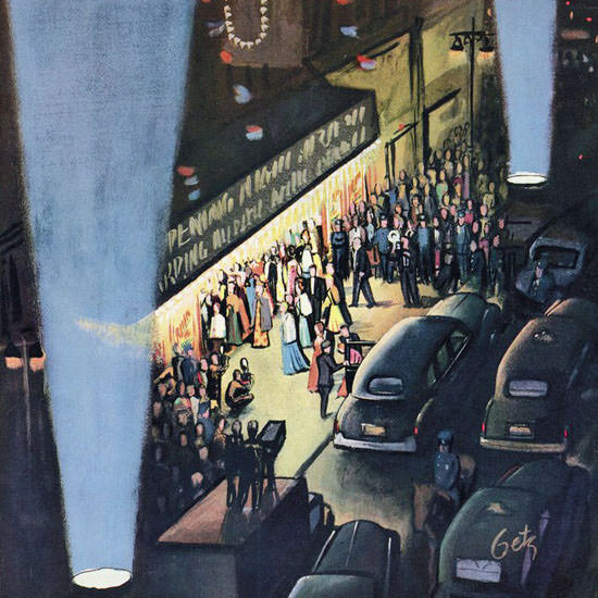 Arthur Getz The New Yorker 1953_09_26 Copyright crop | Best of Vintage Cover Art 1900-1970