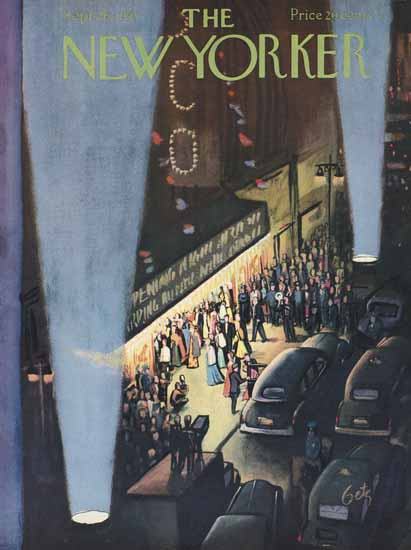 Arthur Getz The New Yorker 1953_09_26 Copyright | The New Yorker Graphic Art Covers 1946-1970