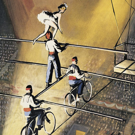 Arthur Getz The New Yorker 1954_03_27 Copyright crop   Best of Vintage Cover Art 1900-1970