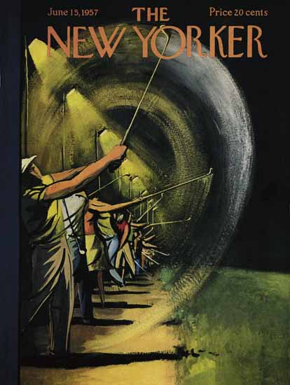 Arthur Getz The New Yorker 1957_06_15 Copyright | The New Yorker Graphic Art Covers 1946-1970