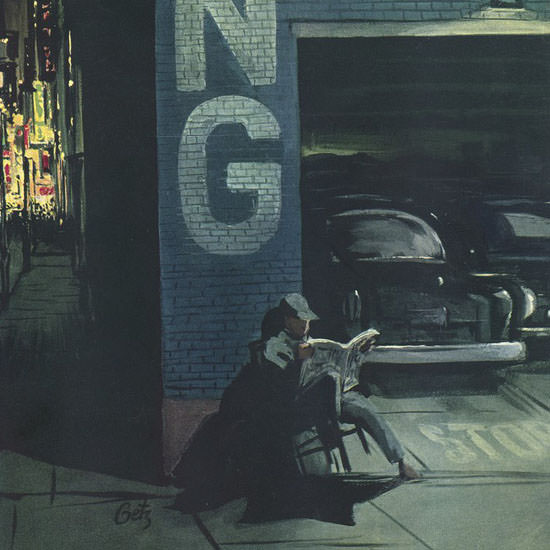 Arthur Getz The New Yorker 1957_10_05 Copyright crop | Best of Vintage Cover Art 1900-1970