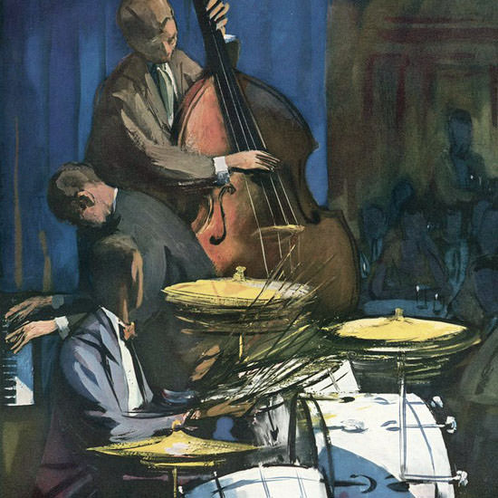 Arthur Getz The New Yorker 1958_01_04 Copyright crop   Best of Vintage Cover Art 1900-1970