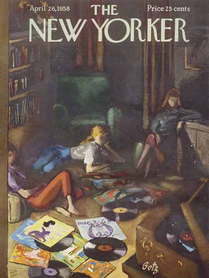 Arthur Getz The New Yorker 1958_04_26 Copyright | The New Yorker Graphic Art Covers 1946-1970