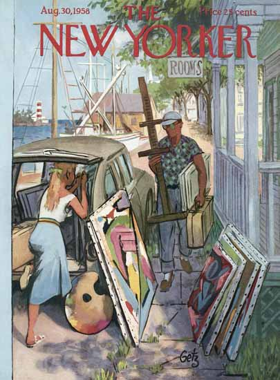 Arthur Getz The New Yorker 1958_08_30 Copyright | The New Yorker Graphic Art Covers 1946-1970