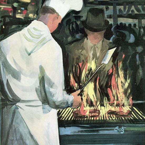 Arthur Getz The New Yorker 1959_03_07 Copyright crop | Best of Vintage Cover Art 1900-1970