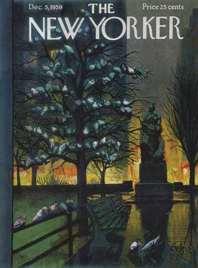 Arthur Getz The New Yorker 1959_12_05 Copyright | The New Yorker Graphic Art Covers 1946-1970