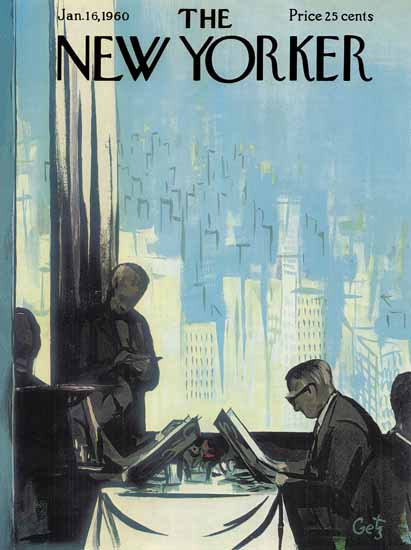 Arthur Getz The New Yorker 1960_01_16 Copyright | The New Yorker Graphic Art Covers 1946-1970