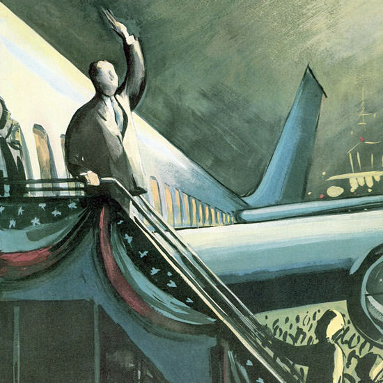 Arthur Getz The New Yorker 1960_10_01 Copyright crop | Best of Vintage Cover Art 1900-1970