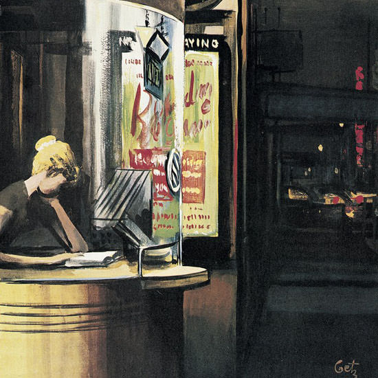 Arthur Getz The New Yorker 1961_05_06 Copyright crop | Best of Vintage Cover Art 1900-1970