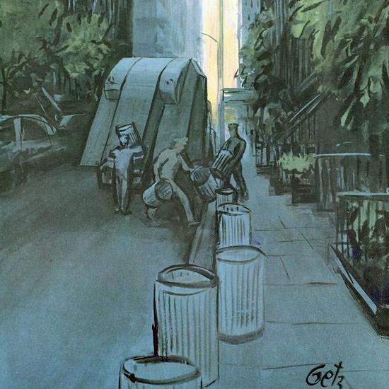 Arthur Getz The New Yorker 1961_06_17 Copyright crop   Best of Vintage Cover Art 1900-1970
