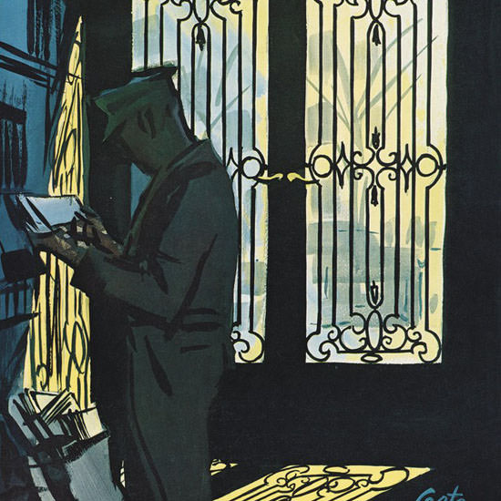 Arthur Getz The New Yorker 1962_12_01 Copyright crop | Best of Vintage Cover Art 1900-1970