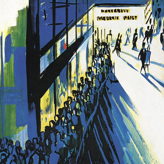 Arthur Getz The New Yorker 1964_07_11 Copyright crop | Best of Vintage Cover Art 1900-1970