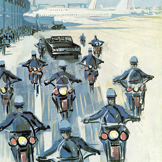 Arthur Getz The New Yorker 1964_10_03 Copyright crop | Best of Vintage Cover Art 1900-1970