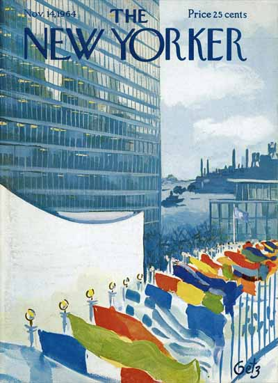 Arthur Getz The New Yorker 1964_11_14 Copyright   The New Yorker Graphic Art Covers 1946-1970