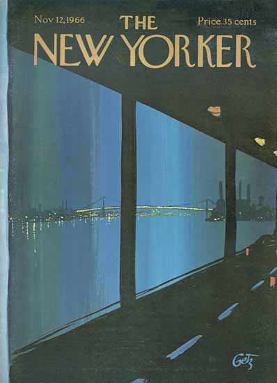 Arthur Getz The New Yorker 1966_11_12 Copyright | The New Yorker Graphic Art Covers 1946-1970