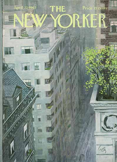 Arthur Getz The New Yorker 1967_04_22 Copyright | The New Yorker Graphic Art Covers 1946-1970