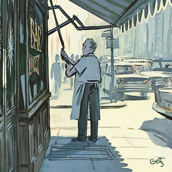 Arthur Getz The New Yorker 1967_07_08 Copyright crop | Best of Vintage Cover Art 1900-1970