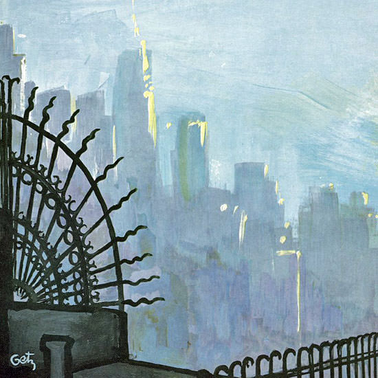 Arthur Getz The New Yorker 1969_03_08 Copyright crop | Best of Vintage Cover Art 1900-1970