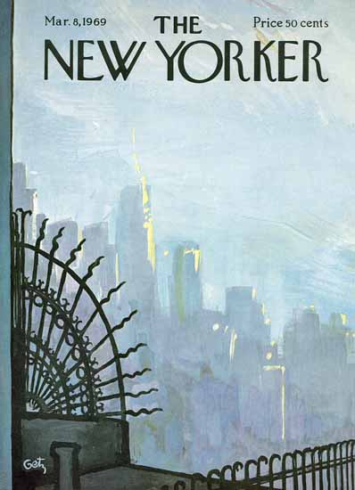 Arthur Getz The New Yorker 1969_03_08 Copyright | The New Yorker Graphic Art Covers 1946-1970
