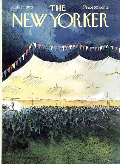 Arthur Getz The New Yorker 1970_07_25 Copyright | The New Yorker Graphic Art Covers 1946-1970