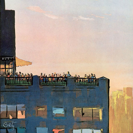 Arthur Getz The New Yorker 1970_09_05 Copyright crop | Best of Vintage Cover Art 1900-1970