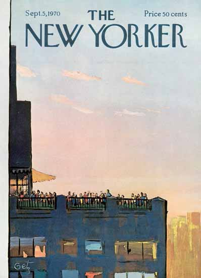 Arthur Getz The New Yorker 1970_09_05 Copyright | The New Yorker Graphic Art Covers 1946-1970