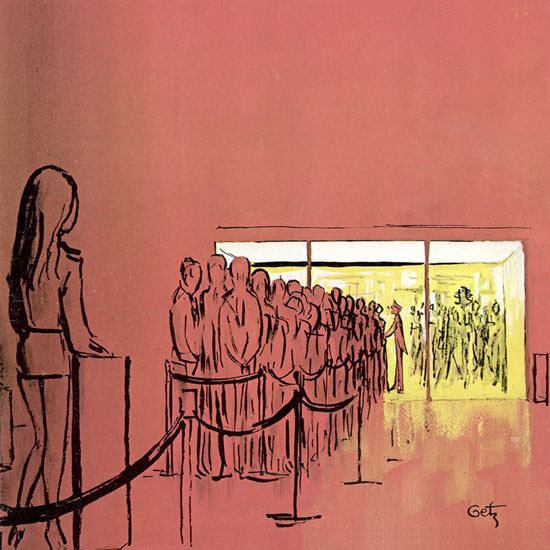 Arthur Getz The New Yorker 1970_10_10 Copyright crop | Best of Vintage Cover Art 1900-1970