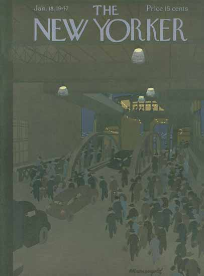 Arthur K Kronengold The New Yorker 1947_01_18 Copyright | The New Yorker Graphic Art Covers 1946-1970