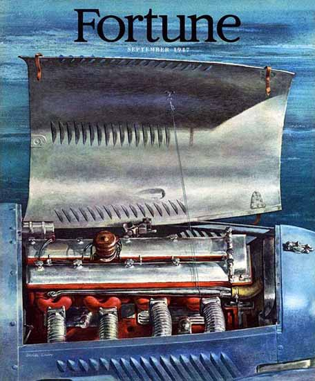 Arthur Lidov Fortune Magazine September 1947 Copyright | Fortune Magazine Graphic Art Covers 1930-1959