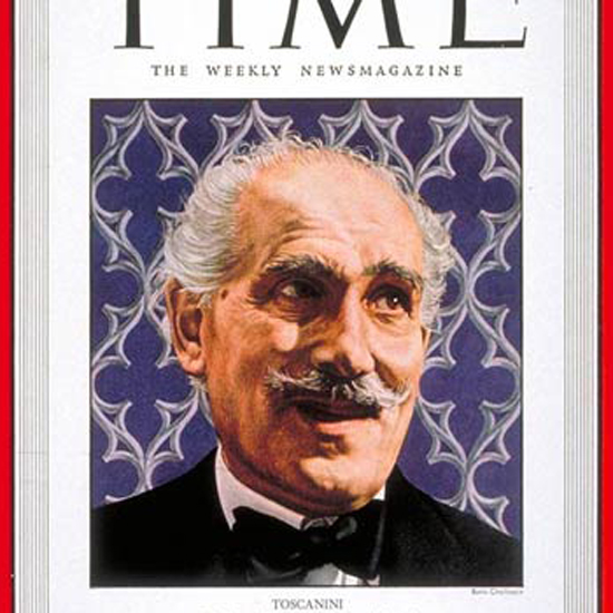 Arturo Toscanini Time Magazine 1948-04 by Boris Chaliapin crop | Best of Vintage Cover Art 1900-1970