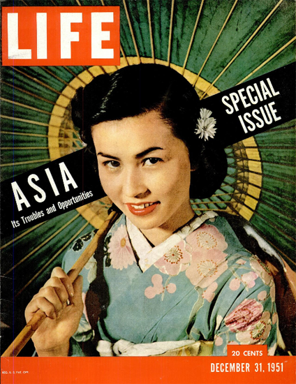 Asia Troubles and Opportunities 31 Dec 1951 Copyright Life Magazine | Life Magazine Color Photo Covers 1937-1970