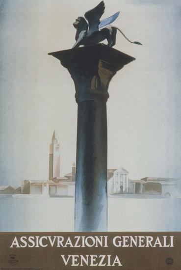 Assicurazioni Generali Venezia Italy Italia | Vintage Ad and Cover Art 1891-1970
