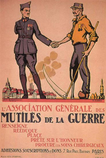 Association Generale Des Mutiles Da La Guerre | Vintage War Propaganda Posters 1891-1970