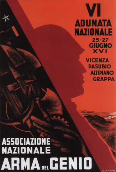 Associazione Nazionale Arme Del Genio 1916 | Vintage War Propaganda Posters 1891-1970
