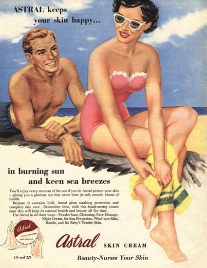 Astral Skin Cream Keeps Your Skin Happy | Sex Appeal Vintage Ads and Covers 1891-1970