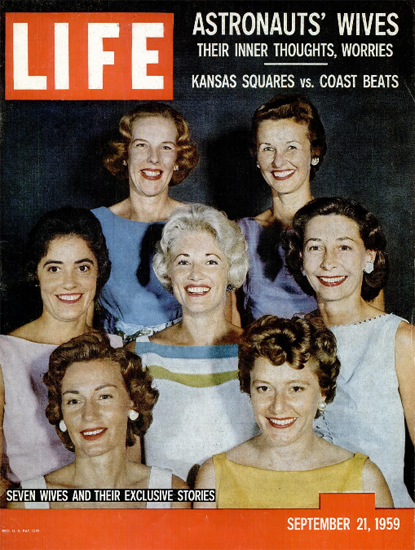 Astronauts Wives Thoughts Worries 21 Sep 1959 Copyright Life Magazine | Life Magazine Color Photo Covers 1937-1970
