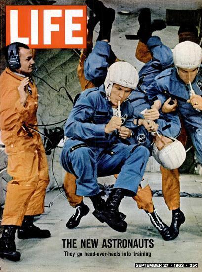 Astronauts train Zero Gravity 27 Sep 1963 Copyright Life Magazine | Life Magazine Color Photo Covers 1937-1970