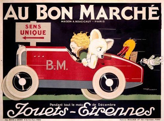 Au Bon Marche Paris Jouets Etrennes Toys | Vintage Ad and Cover Art 1891-1970
