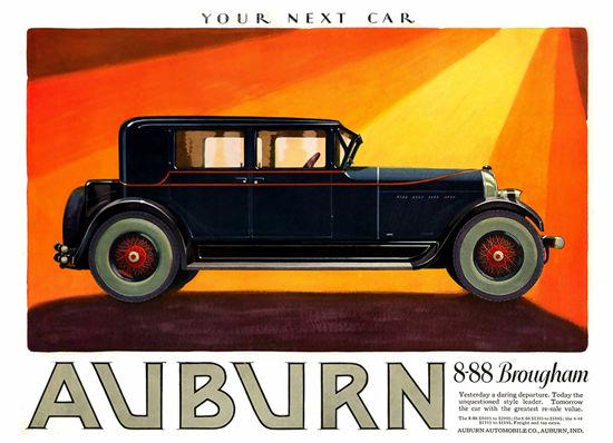 Auburn 8-88 Brougham Automobile Your Next Car | Vintage Cars 1891-1970