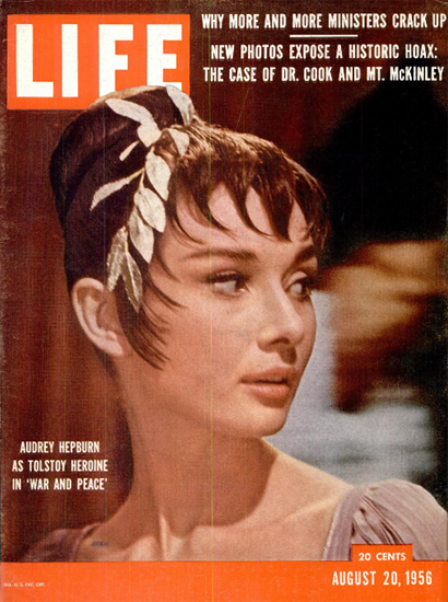 Audrey Hepburn in War And Peace 20 Aug 1956 Copyright Life Magazine | Life Magazine Color Photo Covers 1937-1970